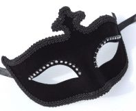 Black Velour Mask